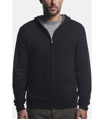 mesh lined cashmere hoodie