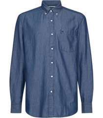 camisa button down light denim azul calvin klein