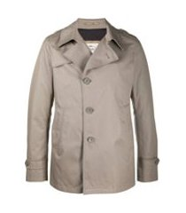 herno trench coat com abotoamento simples - neutro