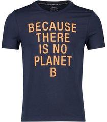 ecoalf t-shirt deep navy 'natal because classic'