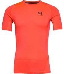 ua hg armour comp ss t-shirts short-sleeved orange under armour