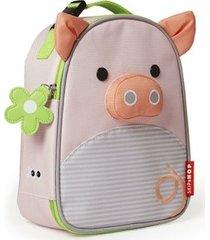 lancheira infantil skip hop - linha zoo - coleção porquinha