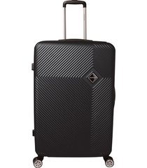 mala de bordo padrão anac em abs - santino - 19 polegadas - preto