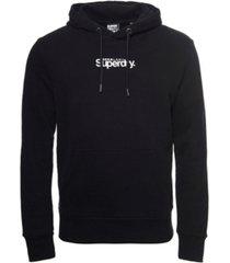superdry men's core logo essential hoodie