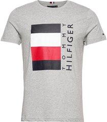corp stripe box tee t-shirts short-sleeved grå tommy hilfiger