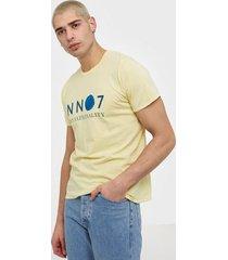 nn.07 mauro print tee 3460 t-shirts & linnen pale
