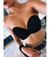 black basic strapless seamless push up padded bra