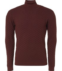 pullover, r-neck, plated jacquard k brick