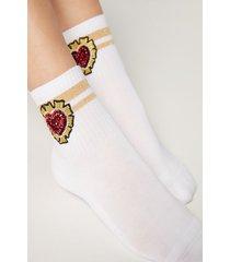calzedonia paillettes ankle socks woman print size tu