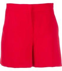 blanca vita penelope pleated detail shorts - red