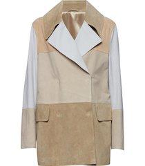 suede coat lange leren jas lange jas beige filippa k