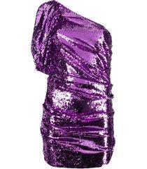 for love and lemons one-shoulder mini dress - purple
