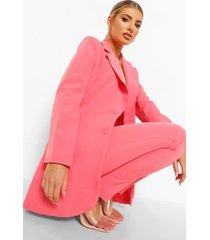 getailleerde blazer, candy pink