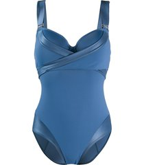 marlies dekkers surplice swimsuit - blue