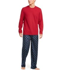 club room men's printed pajama set, created for macy's