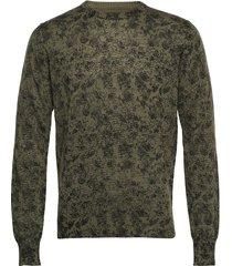 amaranth stickad tröja m. rund krage grön bruun & stengade