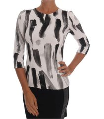 striped printed blouse top