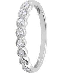 anello riviere in oro bianco modello marquise con diamanti 0,10 ct per donna