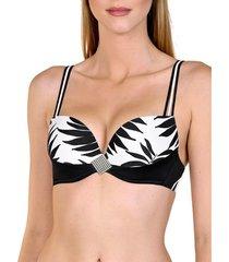 bikini lisca black ocean city push-up badpak top