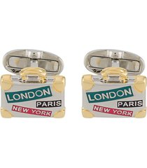 paul smith briefcase cufflinks - silver