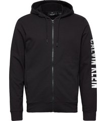full zip hooded jacket hoodie svart calvin klein performance
