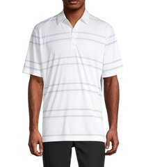 callaway men's striped golf polo - bright white - size m
