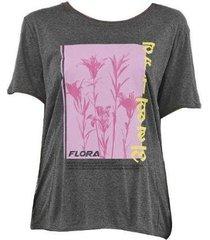 camiseta forum flora manga curta 02038 feminina - feminino
