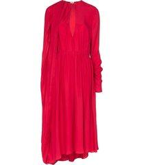 magda butrym vasto cape midi dress - pink