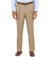 tayion collection men's classic-fit taupe with teal stripe suit separates pants