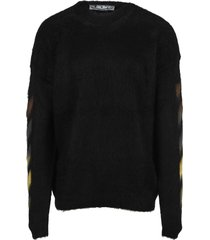 off-white off white brushed wool sweater