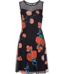 abito con mesh a fiori (nero) - bodyflirt