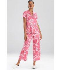 cherry blossom pajamas, women's, pink, size xl, n natori
