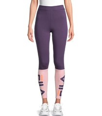 colorblock stretch-cotton leggings