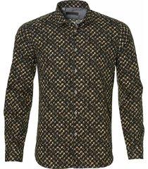 manuel ritz overhemd - slim fit - bruin