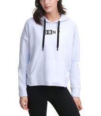dkny sport two-tone logo hoodie