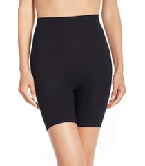 women's commando control high waist shaping shorts, size large - black