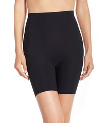 women's commando 'control' high waist shaping shorts, size large - black