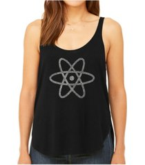 la pop art women's premium word art flowy tank top- atom