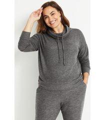 maurices plus size womens lakeside cozy gray sweatshirt