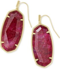 kendra scott faceted illusion stone drop earrings