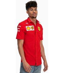 ferrari team shirt met korte mouwen voor heren, rood/wit/aucun, maat xl | puma