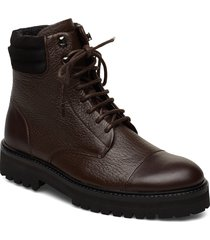 ave hiker combat boot shoes boots ankle boots ankle boots flat heel brun royal republiq