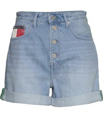 mom jean short btn fly svlb shorts denim shorts blå tommy jeans
