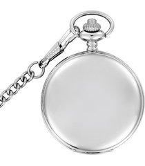 reloj bolsillo cuarzo analogo cadena aleacion pb001 plateado