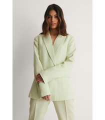 na-kd classic blazer med struktur - green