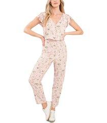 women's cece floral print jumpsuit, size 14 - pink