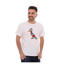 camiseta reserva masculina modernist woodpecker branca