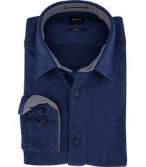 hugo boss blauw overhemd slim fit
