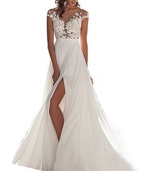 cheap see-through boho wedding dress white,beach wedding gown,bridal dress gown