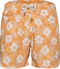 hibiscus bathing trunks shorts casual orange morris